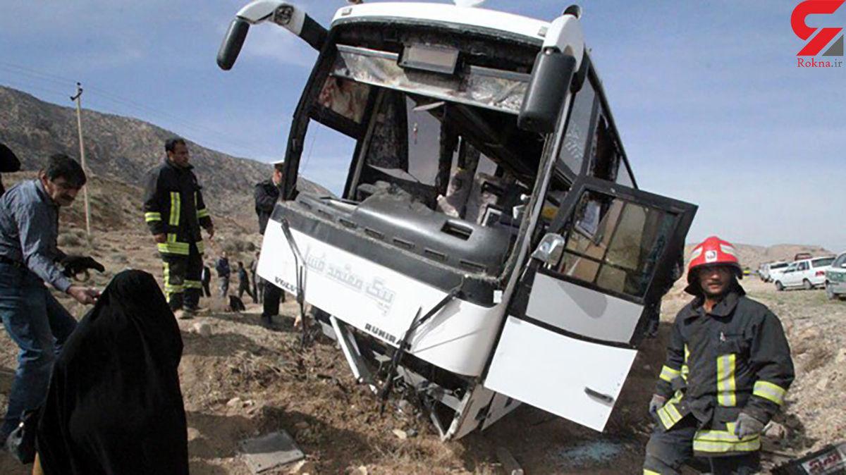 حادثه اتوبوس این بار در قم؛ 25 مسافر مرگ را به چشم دیدند