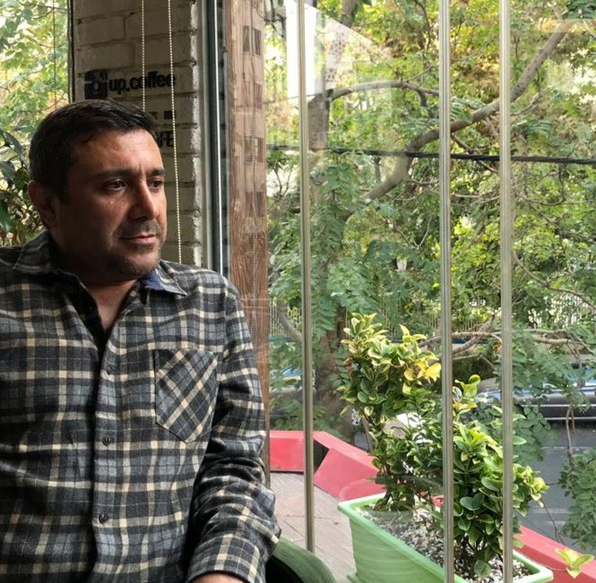 رضا کریمی بازیگر معروف عزادار شد   تصاویر دیده نشده