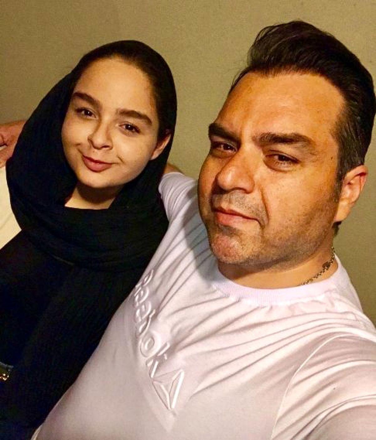 شباهت دیدنی شهرام قائدی و دخترش به هم! +عکس شهرام قائدی و همسر و دخترش