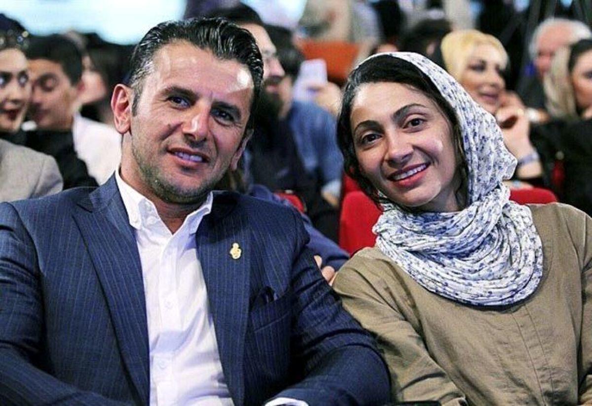 تصاویر دیده نشده از امین حیایی در کنار همسر و پسرش
