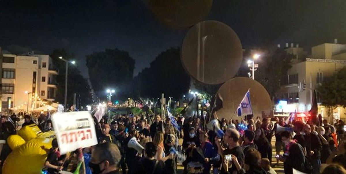 تظاهرات ضد نتانیاهو در تلآویو