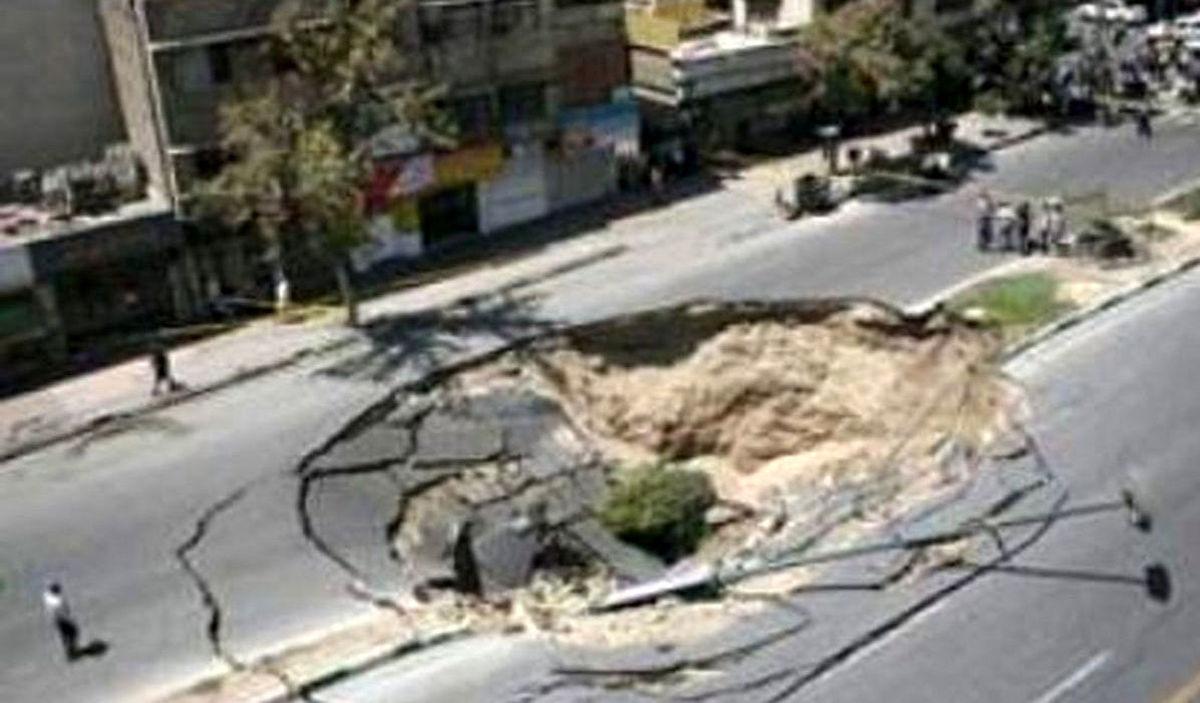 تهران شکافت برداشت   گودال وحشتناک در تهران چیست؟